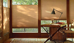 Country Carpet & Flooring features window coverings from Hunter Douglas.
